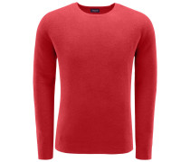 Frottee R-Neck Pullover koralle