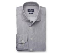 Casual Hemd schmaler Kragen grau