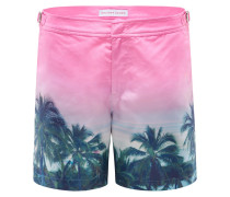 Badeshorts 'Bulldog Palms Aplenty' pink