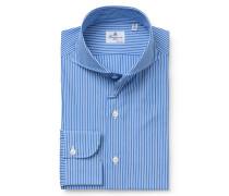 Business Hemd 'Sergio Napoli' Haifisch-Kragen blau