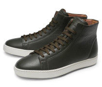 High Top Sneaker oliv