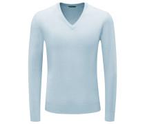 Cashmere V-Neck Pullover pastellblau