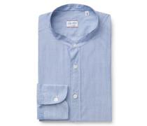 Casual Hemd 'Jared' Grandad-Kragen blau