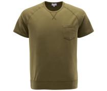 R-Neck Kurzarm-Sweatshirt oliv