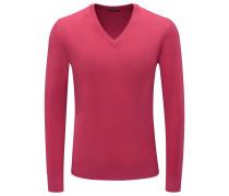 Cashmere V-Neck Pullover magenta