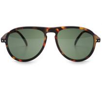 Sonnenbrille '#I Sun' dunkelbraun /grün