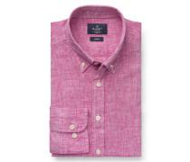 Leinenhemd 'Brompton' Button-Down-Kragen magenta