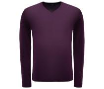 Merino V-Neck Pullover violett