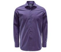 Casual Hemd Haifisch-Kragen violett