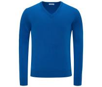 Cashmere V-Neck Pullover 'No. 30' blau