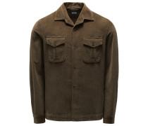 Cord-Overshirt khaki