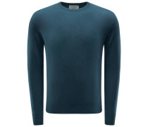 Cashmere R-Neck Pullover petrol