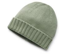 Cashmere Mütze oliv