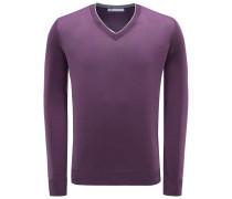 V-Neck Pullover violett