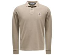 Longsleeve-Poloshirt beige