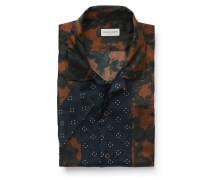 Kurzarmhemd 'Carlton' Reverskragen braun