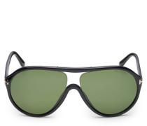 Sonnenbrille 'Edison' schwarz/grün