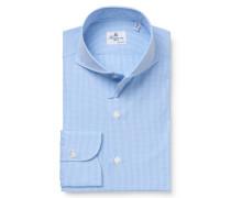 Business Hemd 'Sergio Milano' Haifisch-Kragen hellblau/weiß