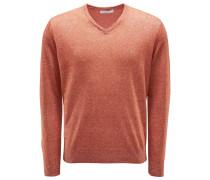 V-Ausschnitt-Pullover orange