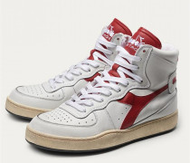 High Top Sneaker 'Mi Basket Used' weiß/rot