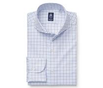 Business Hemd 'Sergio Napoli' Haifisch-Kragen weiß/blau