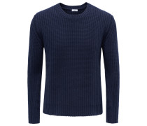 Cashmere R-Neck Pullover navy