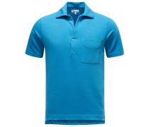 Jersey-Poloshirt 'Aadeo' azurblau