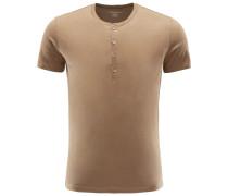 Henley-T-Shirt oliv