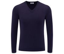 Cashmere V-Neck Pullover dunkelblau