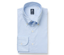 Oxford-Hemd 'Lucio Gaeta' Button-Down-Kragen hellblau