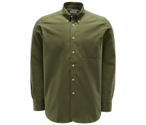 Casual Hemd 'Costes' Button-Down-Kragen oliv
