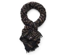 Schal 'Aalloro' schwarz/beige