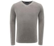Cashmere V-Neck Pullover 'Franklin' graubraun