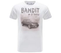 R-Neck T-Shirt 'Banja' weiß