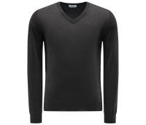 V-Ausschnitt-Pullover anthrazit