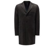 Wollmantel 'Boxy Coat' graubraun