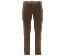 Cordhose 'Tapered Fit' braun