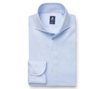 Business Hemd 'Napoli' Haifisch-Kragen hellblau