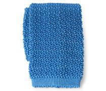 Seiden-Strickkrawatte azurblau