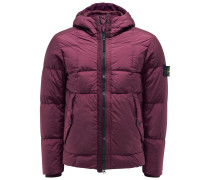 Daunenjacke 'Garment Dyed Crinkle Reps NY Down' bordeaux