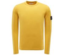R-Neck Pullover gelb