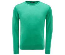Merino R-Neck Pullover grün
