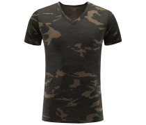 V-Neck T-Shirt oliv