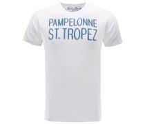 R-Neck T-Shirt 'Pampelonne' weiß