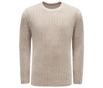 Cashmere R-Neck Pullover beige