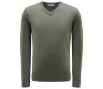 Cashmere V-Neck Pullover oliv
