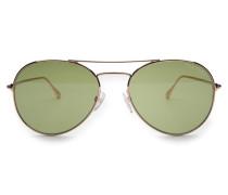 Sonnenbrille 'Ace' gold/grün