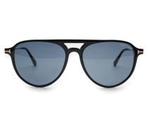 Sonnenbrille 'Carlo' schwarz/grün