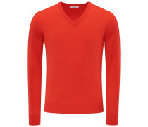 Cashmere V-Neck Pullover 'No. 30' rot