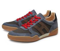 Sneaker 'H357' rauchblau/oliv